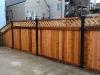 Red Cedar Wood Fence w/ Lattice